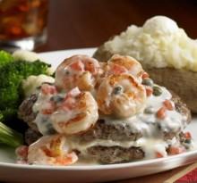 Beef Burger Steak with Shrimps